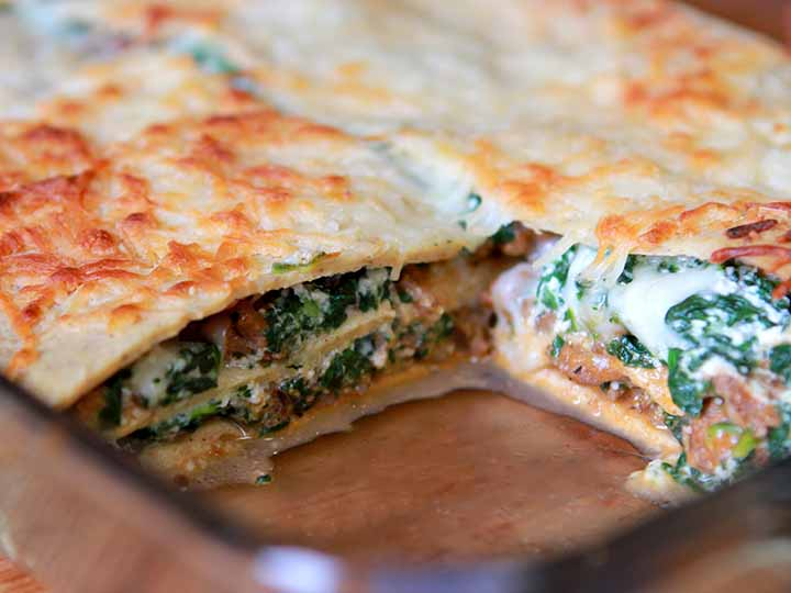 Paleo Spinach and Beef Lasagna
