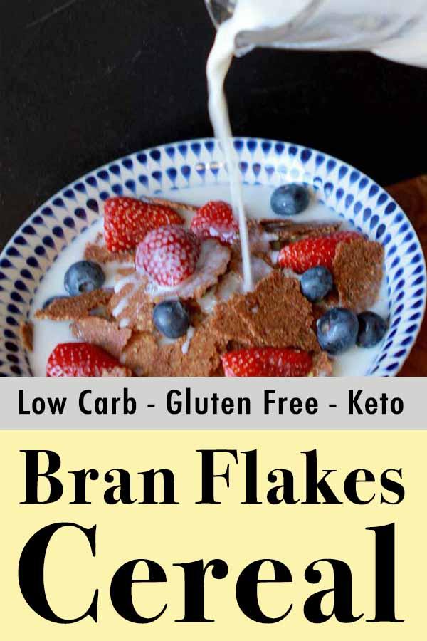 Paleo Bran Flake Cereal Pinterest Pin
