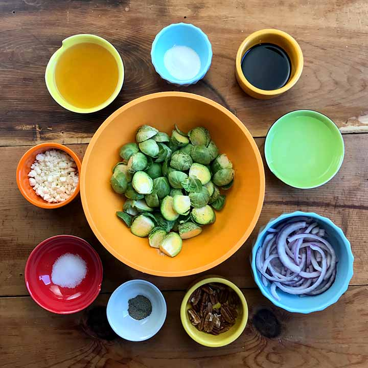 Low Carb Keto Charred Brussel Sprouts Ingredients