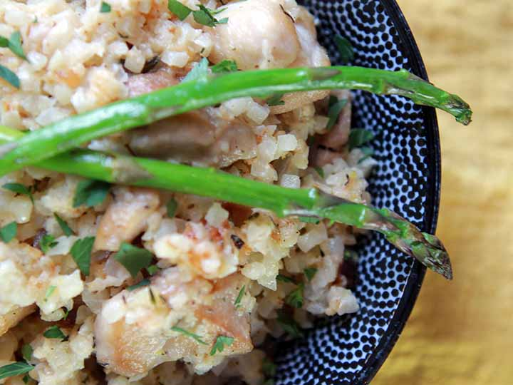 Healthy Chicken Asparagus Risotto