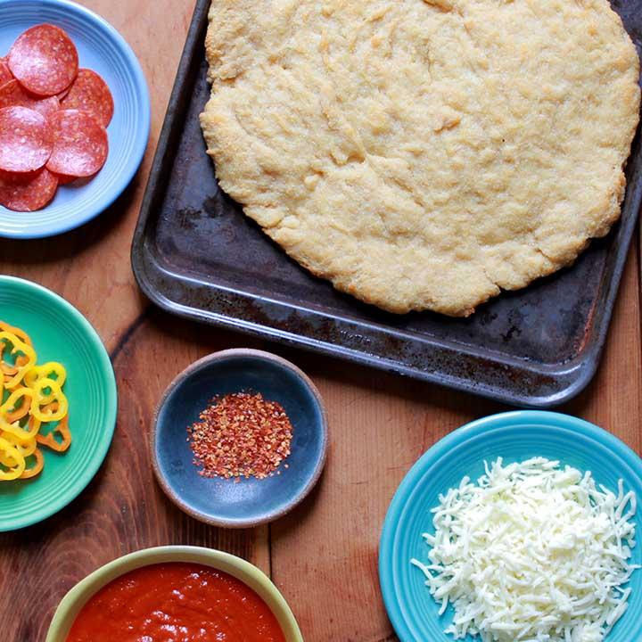 Easy Paleo Yeast Dough Pizza Crust