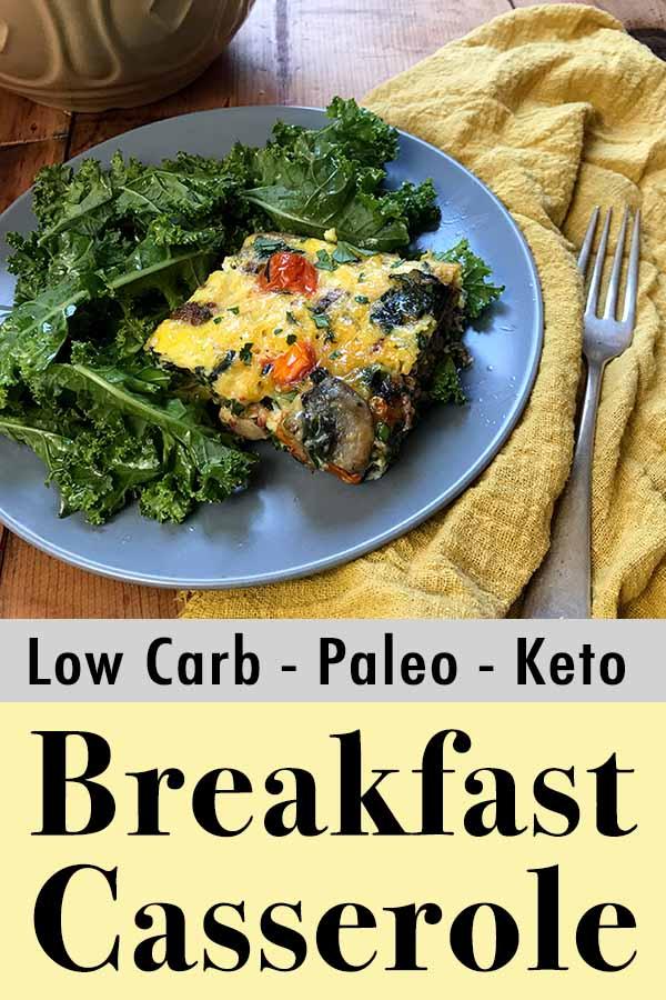 Low Carb Keto Paleo Egg Casserole Pinterest Pin