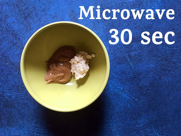 Step 2 Microwave Almond Butter and Coconut Butter