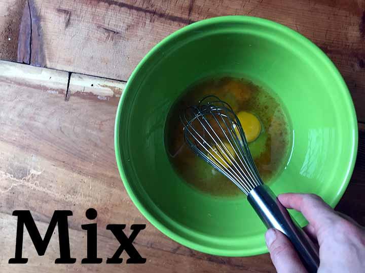 Step 2 Mix wet ingredients