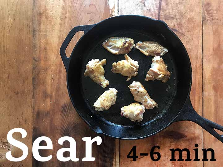 Step 3 Sear the low carb chicken wings