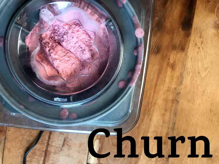 Step 4 Churn Healthy Strawberry Frozen Yogurt