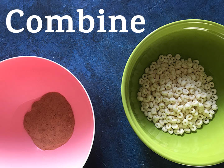 Step 4 Combine wet ingredients with cereal