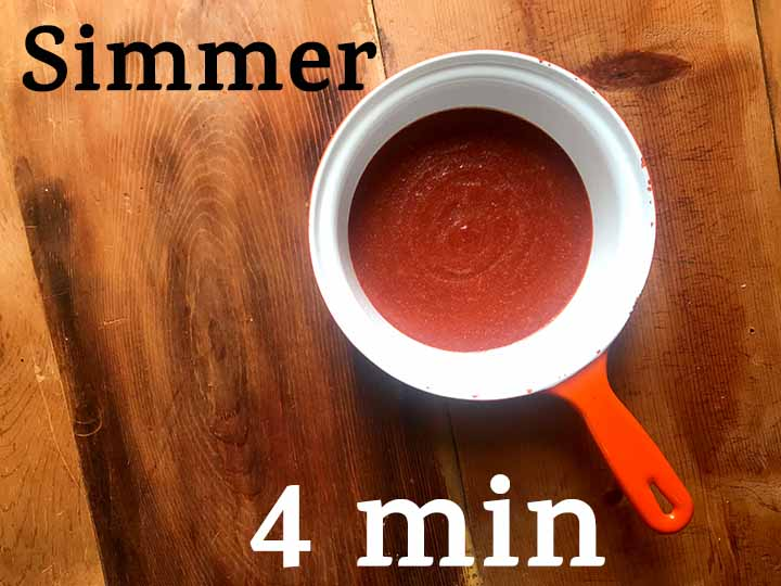 Step 5 Simmer the Low Carb Keto BBQ Sauce