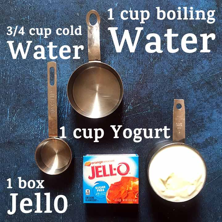 Ingredients for Low Carb Keto Yogurt Jello WHips