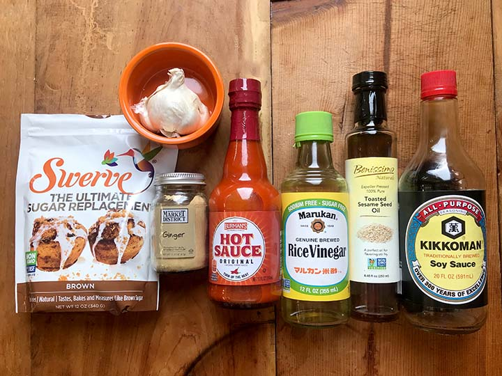 Ingredients for the Low Carb Korean Bubble Chicken Wing Sauce