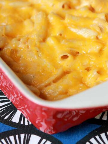 A casserole of Keto Mac and Cheese