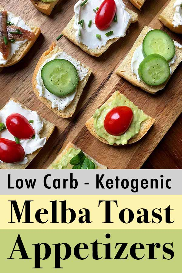 Pinterest pin for low carb keto crostini hors 'doevres