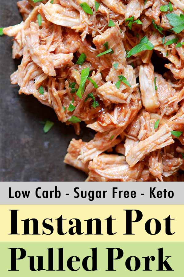 Pinterest Pin for Low Carb Keto Pulled Pork Bar-B-Que