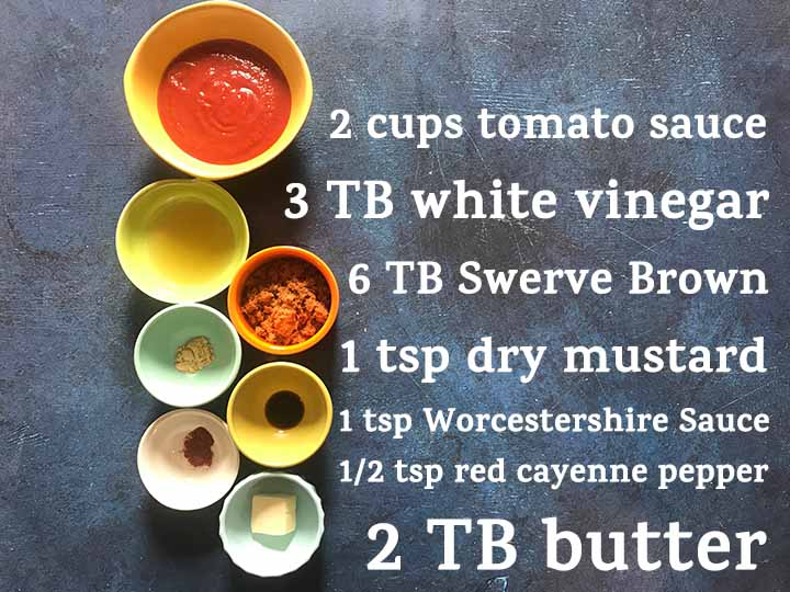 Low Carb Keto Memphis Style BBQ Sauce Ingredients