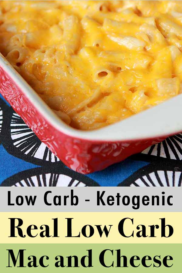 Pinterest pin for real low carb mac & cheese