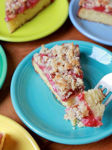slices of Keto Strawberry Crumb Cake