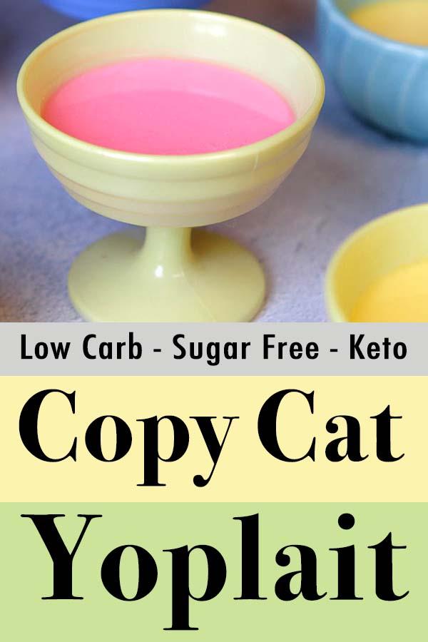 Pinterest Pin for Low Carb Keto Yoplait Yogurt Whips