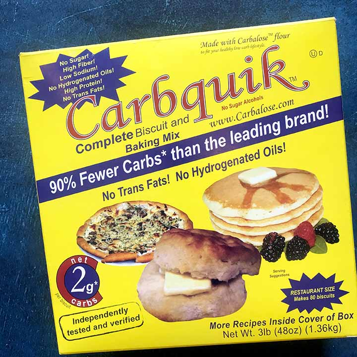 a box of of a low carb baking mix called Carbquik