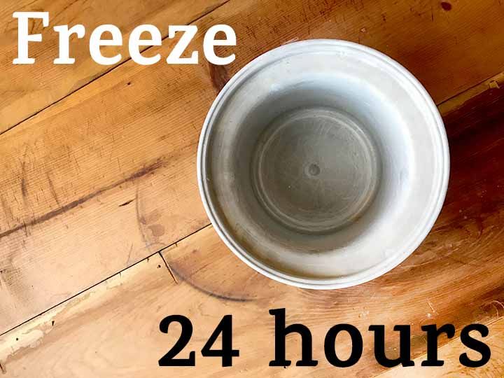 Step 7 Freeze Keto Blueberry Ice Cream
