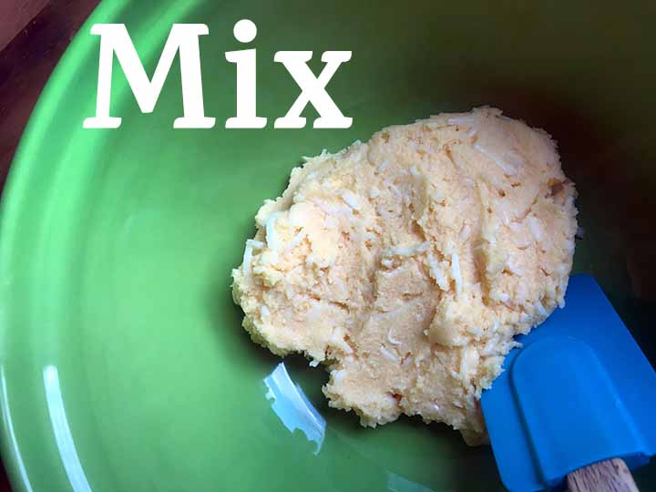 Step 2 Mix up biscuit batter/