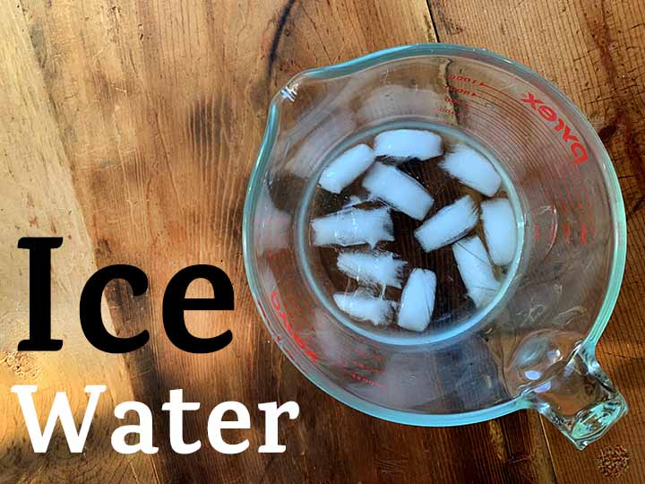 Step 2 make 1 cup of ice water