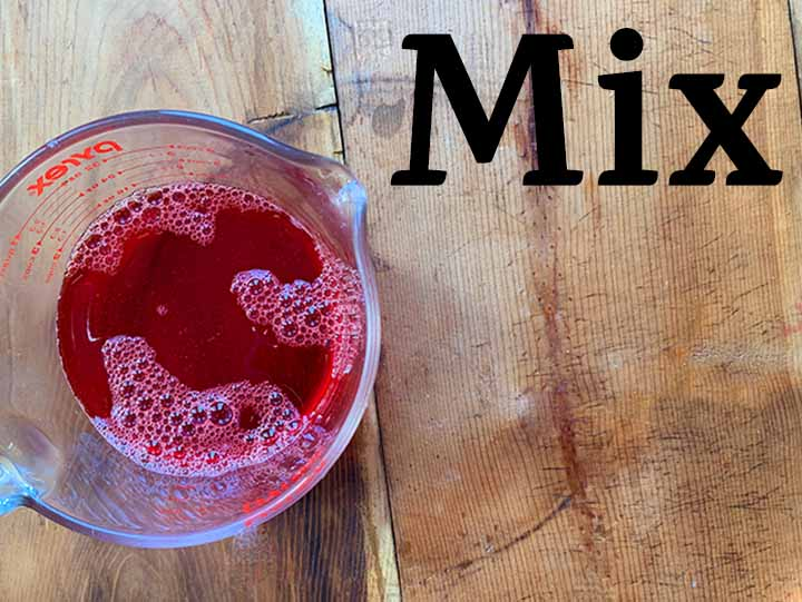 step 3 mix the hot and col mixtures together