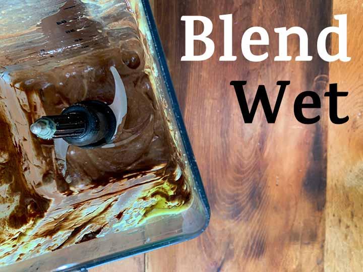 Step 4 blend wet ingredients