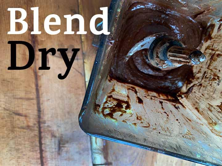 Step 5 Blend Dry ingredients
