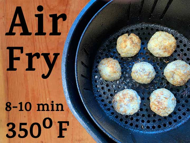 step 9 air fry at 350 degrees F for 8-10 minutes