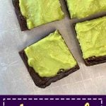 Pinterest Pin for Avocado Brownies