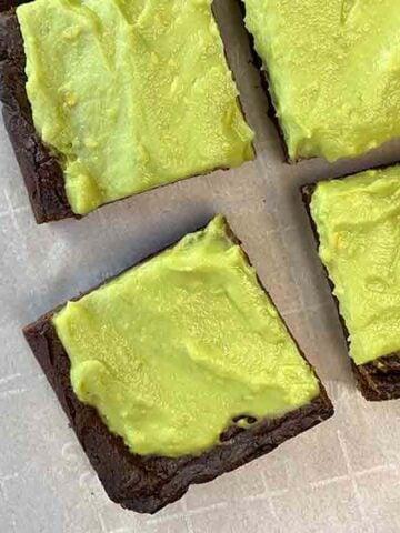4 Keto Avocado Brownies