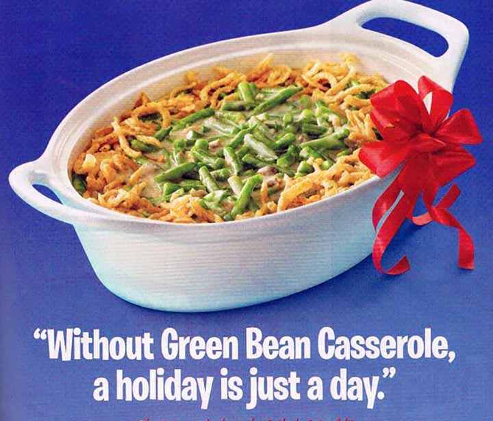 Vintage Advertisement for Campbell's Green Bean Casserole