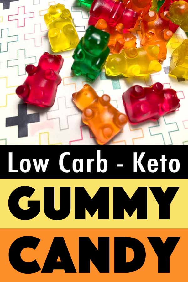 Pinterest Pin for Sugar Free Gummy Bears