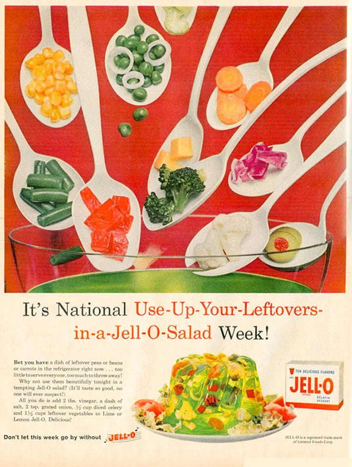 Vintage Jello Salad Advertisement from the 1960's