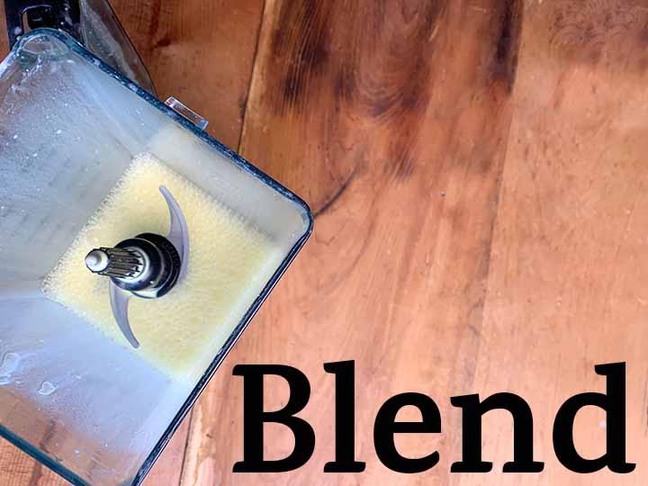 step 4 blend Jello mixture in a blender