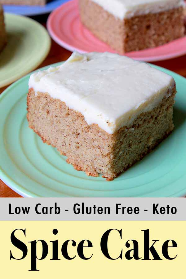 Pinterest Pin for Keto Holiday Spice Cake