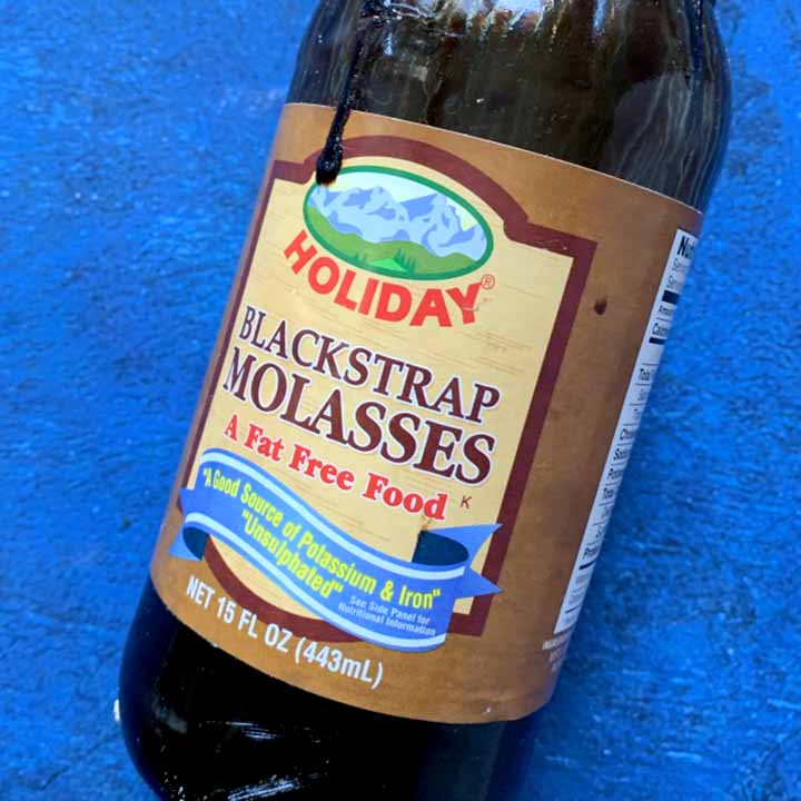 A bottle of blackstrap molasses