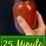 Quick Tomato Sauce Pinterest Pin