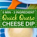 Pinterest Pin for Quick Queso