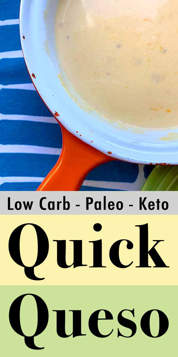 Pinterest Pin for Quick Keto Queso