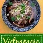 Pinterest Pin for Beef Noodle Pho