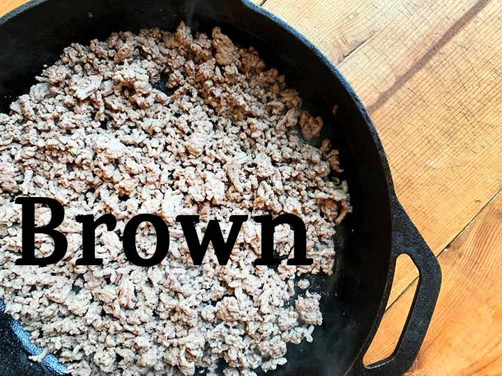 step 3 brown the ground beef