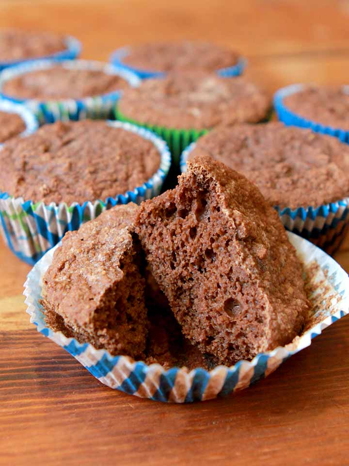 a group of chocolate protein muffins