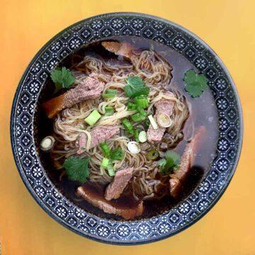 a bowl of Keto Pho Soup