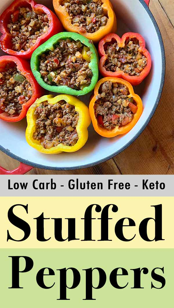 Pinterest Pin for Keto Stuffed Peppers