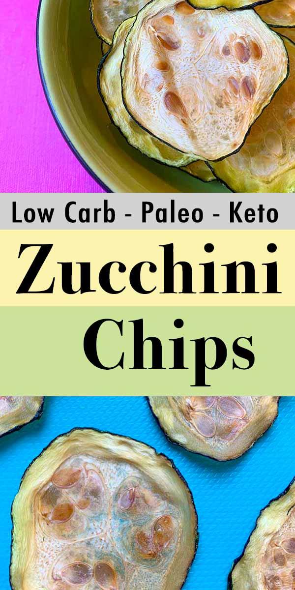 Pinterest Pin for Keto Zucchini Chips