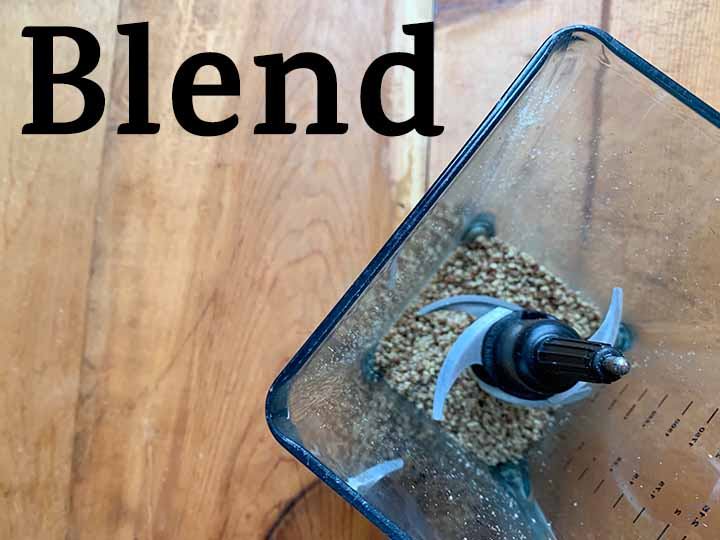 Step 1 blend nuts