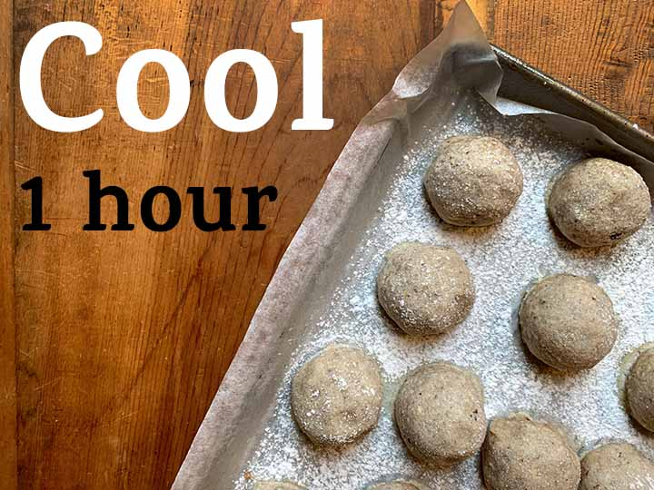 step 1 Cool Low Carb Snowball Cookies