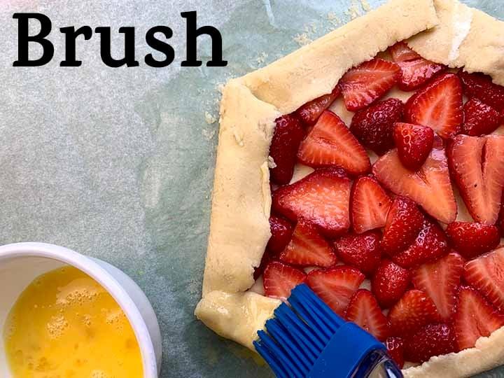 step 11 brush egg wash over crust