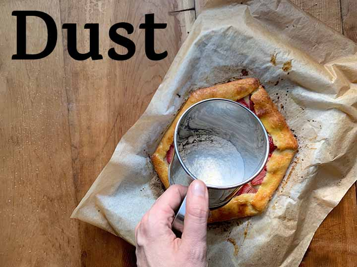 step 16 sprinkle powdered sweetener over Keto pastry